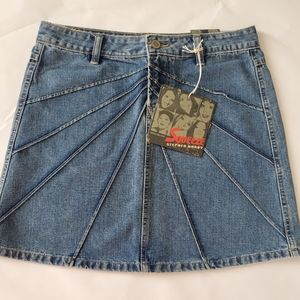 Vintage Squeeze denim jean skirt Stephen Hardy new